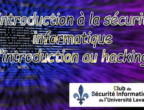 L'introduction à la sécurité informatique (l'introduction au hacking)